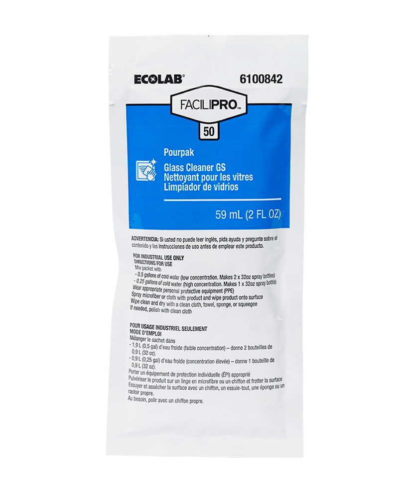 FaciliPro 50 Pourpak Concentrated Glass Cleaner GS