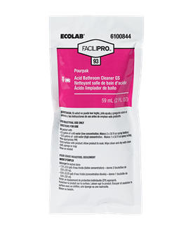 FaciliPro 93 Pourpak Concentrated Acid Bathroom Cleaner GS