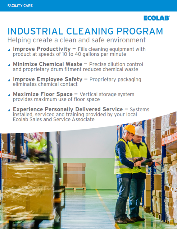 Industrial Cleaning Program Sell Sheet