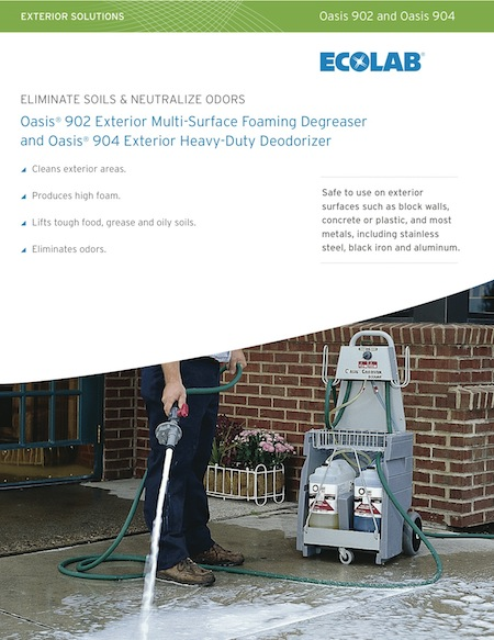 Oasis 902 Exterior Multi Surface Foaming Degreaser