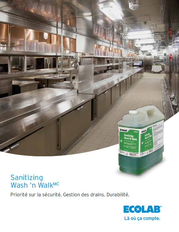 Sanitizing Wash n Walk No Rinse Drain and Floor CleanerSanitizer