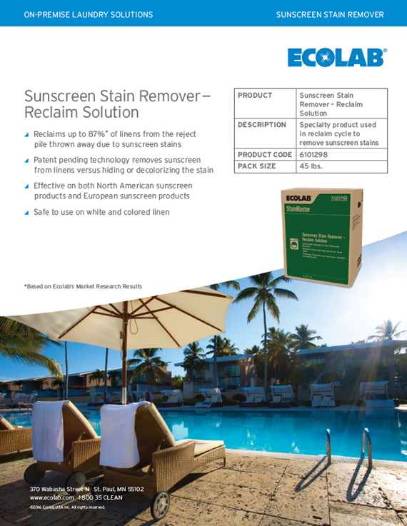Sunscreen Stain Remover Reclaim Solution
